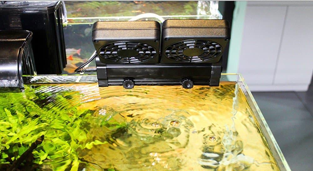 ventilador para enfriar acuario